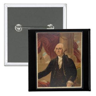 George Washington Portrait 15 Cm Square Badge