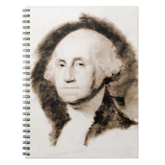 George Washington Portrait 1850 Notebook