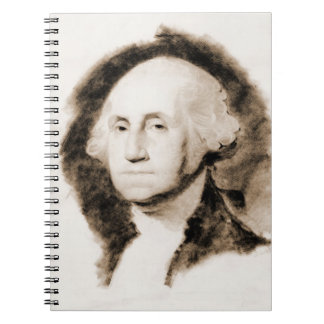 George Washington Portrait 1850 Spiral Notebook