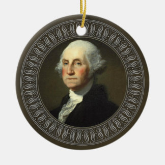 George Washington Portrait Ceramic Ornament