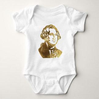George Washington Portrait Gold Look Elegant Baby Bodysuit