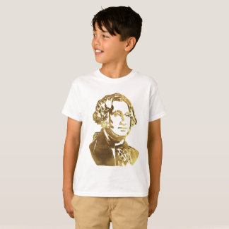 George Washington Portrait Gold Look Elegant T-Shirt