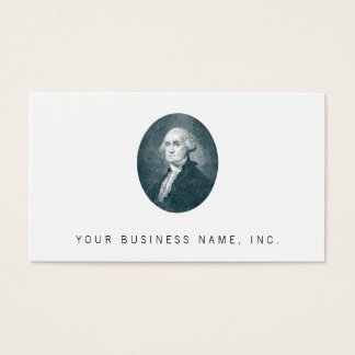 George Washington Portrait Oval Business Card