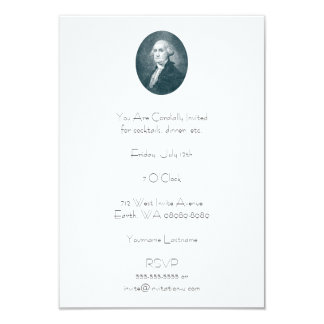 George Washington Portrait Oval Card