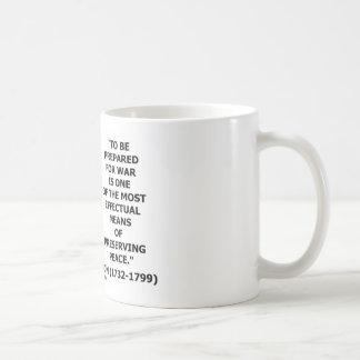 George Washington Preparing For War Peace Quote Mugs
