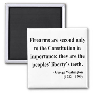 George Washington Quote 6a Square Magnet