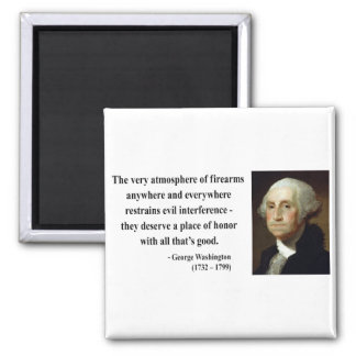 George Washington Quote 7b Square Magnet
