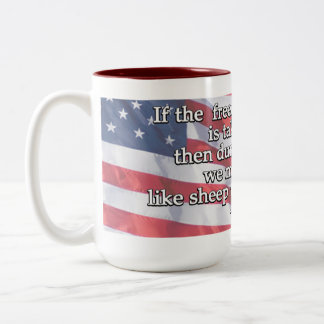 George Washington Quote On First Amendment Two-Tone Coffee Mug