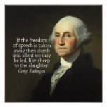 George Washington Quote on Freedom of Speech Print