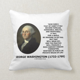 George Washington Rise Early Habit Profitable Cushion