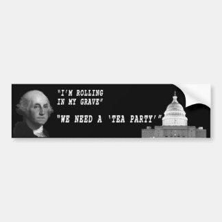 George Washington Speaks Bumper Sticker