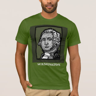 George Washington tee by FacePrints