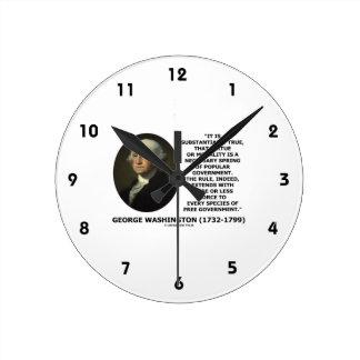 George Washington Virtue Morality Popular Gov't Wall Clocks