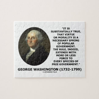 George Washington Virtue Morality Popular Gov't Puzzles