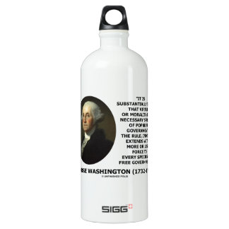 George Washington Virtue Morality Popular Gov't SIGG Traveler 1.0L Water Bottle