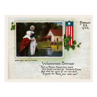George Washington's Birthday Postcard