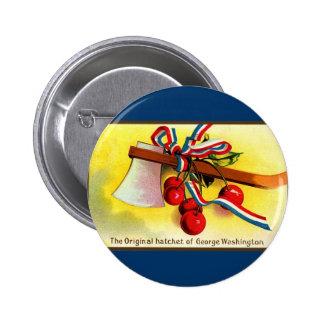 George Washington's hatchet-cherries 6 Cm Round Badge