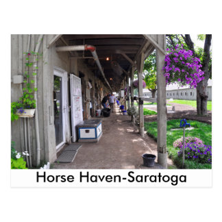 George Weaver Stables at Saratoga Postcard