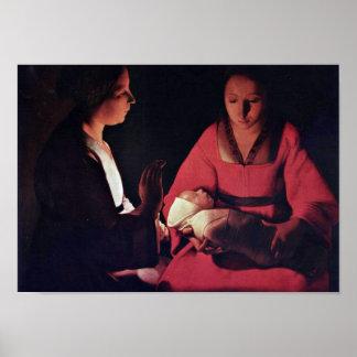 Georges de La Tour - Newlyborn infant Posters