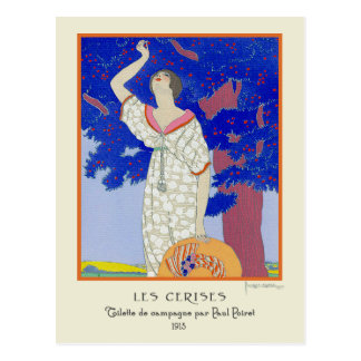 Georges Lepape Vintage Art Deco Fashion Les Cerise Postcard