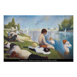 Georges Seurat - Bathers at Asnieres Poster
