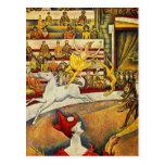 Georges Seurat - Der Zirkus - Circus Postcard