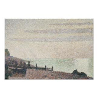 Georges Seurat - Evening, Honfleur Photo Art