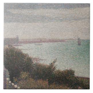 Georges Seurat - Grandcamp, Evening Large Square Tile