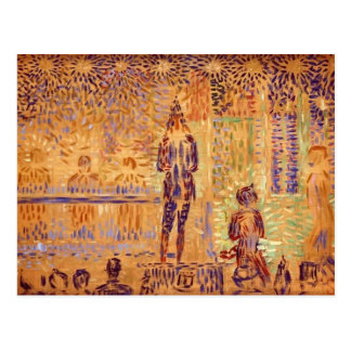 Georges Seurat- 'Invitation to the Sideshow' Postcard