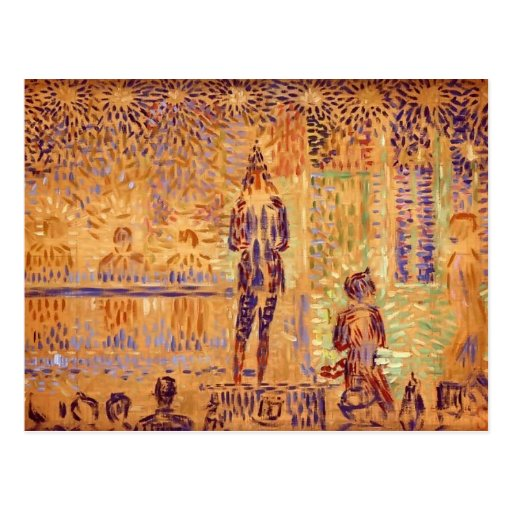 Georges Seurat- 'Invitation to the Sideshow' Postcards