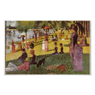Georges Seurat - Sunday afternoon in the Island Print