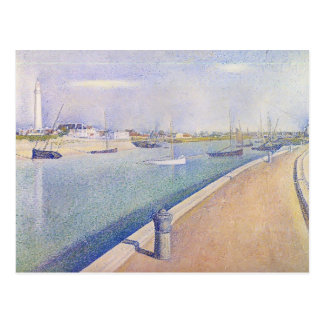 Georges Seurat- The Channel of Gravelines Postcard