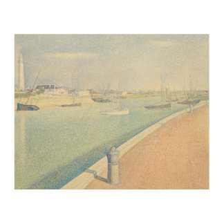 Georges Seurat - The Channel of Gravelines Wood Canvases