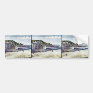 Georges Seurat- The Harbour and the Quays Bumper Sticker