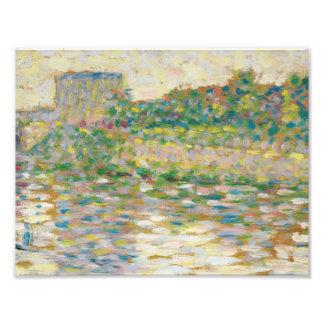 Georges Seurat - The Seine at Courbevoie Art Photo
