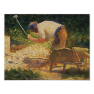 Georges Seurat - The Stone Breaker Poster