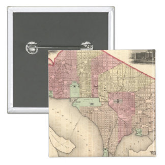 Georgetown and the City of Washington 15 Cm Square Badge