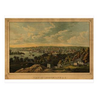 Georgetown DC in 1855 Postcard