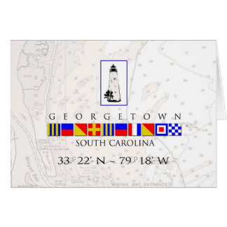 Georgetown SC Marine Signal Flag Note Cards