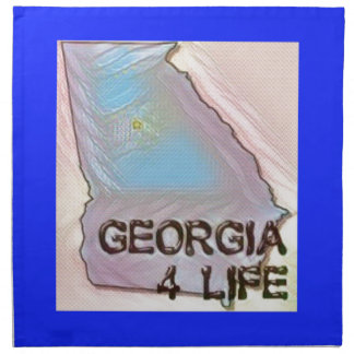 """Georgia 4 Life"" State Map Pride Design Napkin"
