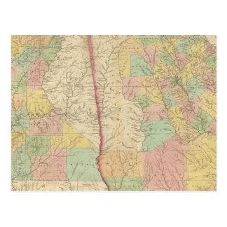 Georgia and Alabama 3 Postcard