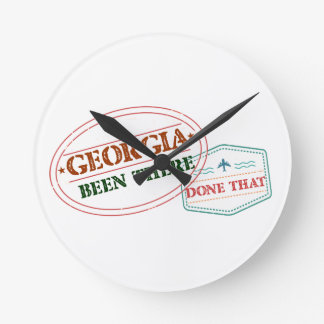 Georgia Been There Done That Round Clock