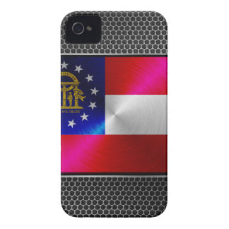 Georgia brushed metal flag iPhone 4 Case-Mate cases