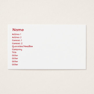 Georgia - Business Business Card