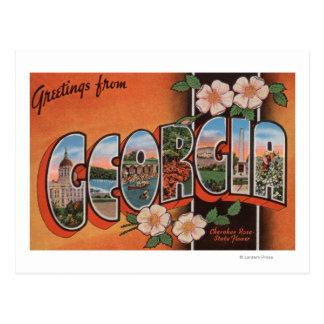 Georgia (Cherokee Rose) - Large Letter Scenes Postcard