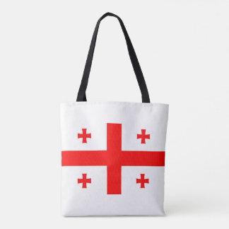 georgia country flag long symbol tote bag