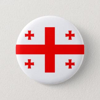 georgia country flag symbol 6 cm round badge