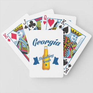 Georgia Drinking team Bicycle Playing Cards