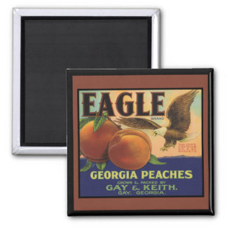 Georgia Eagle Peaches Magnet
