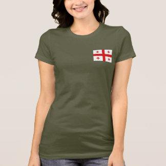 Georgia Flag and Map dk T-Shirt